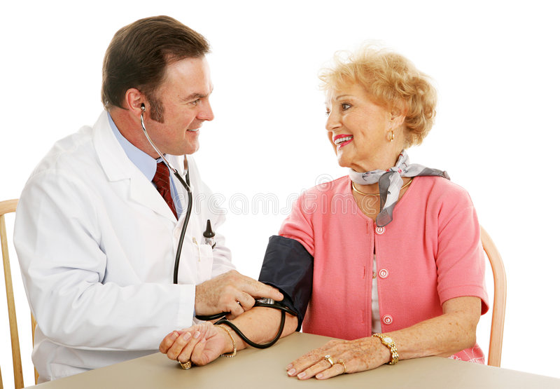 Senior Medical - Blood Pressure Normal royalty free stock photo