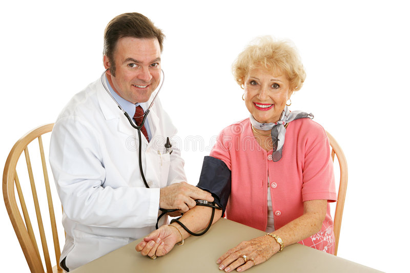 Senior Medical - Taking Blood Pressure