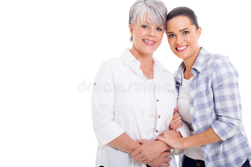 Download Senior mother daughter stock image. Image of casual, cutout - 33857883