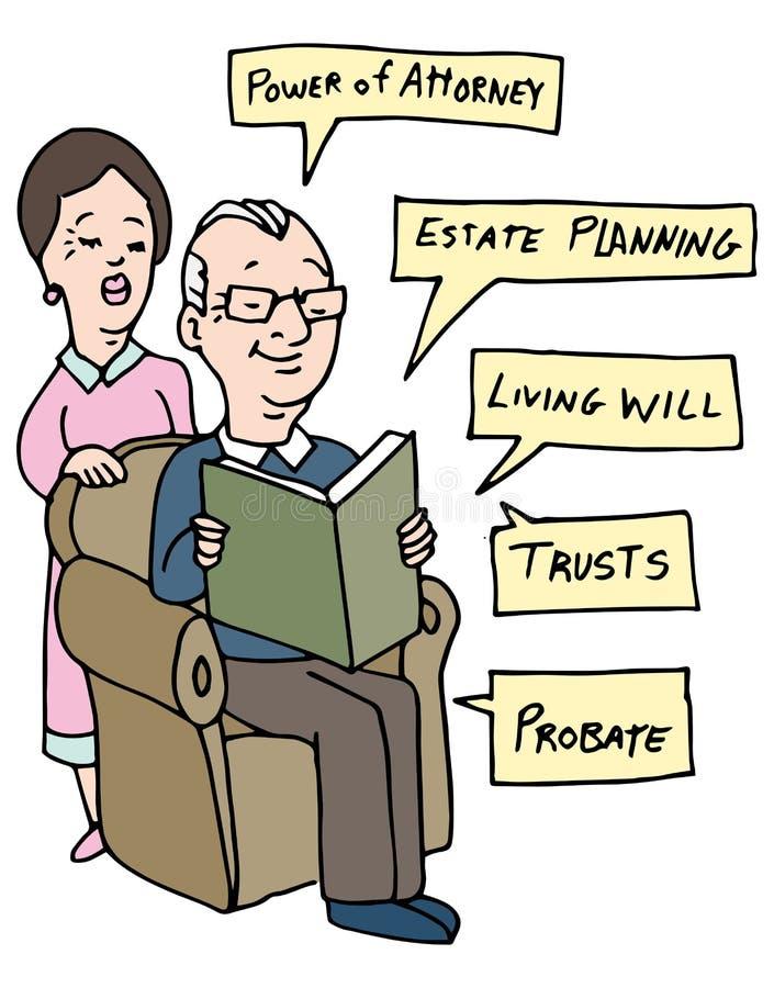 Senior nieruchomości planowania badanie ilustracji