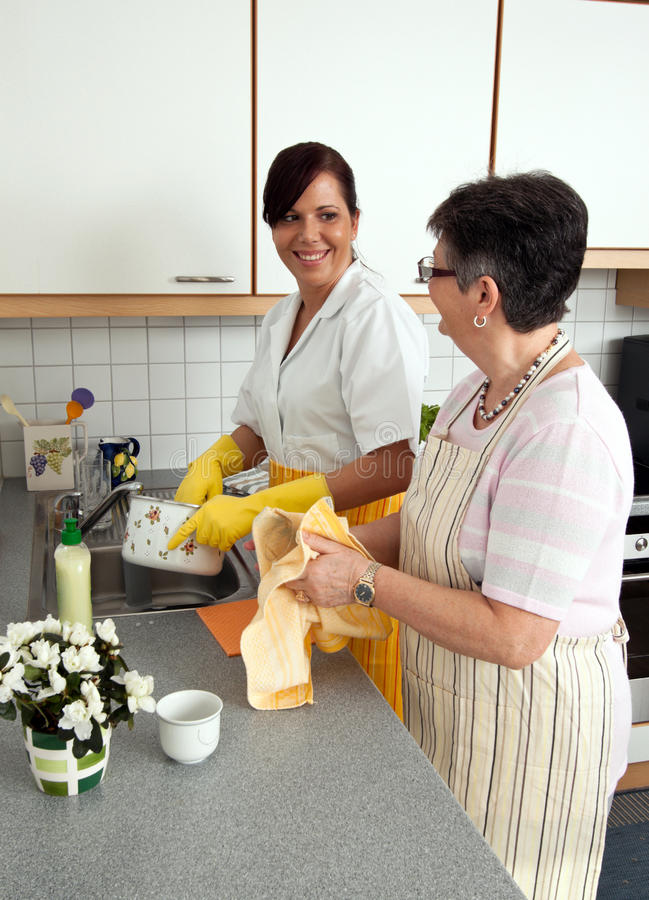 Download Senior and nurse stock photo. Image of maintenance, home - 14182800