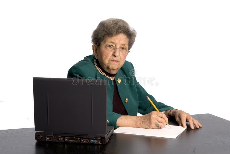 Senior office executive stock photography