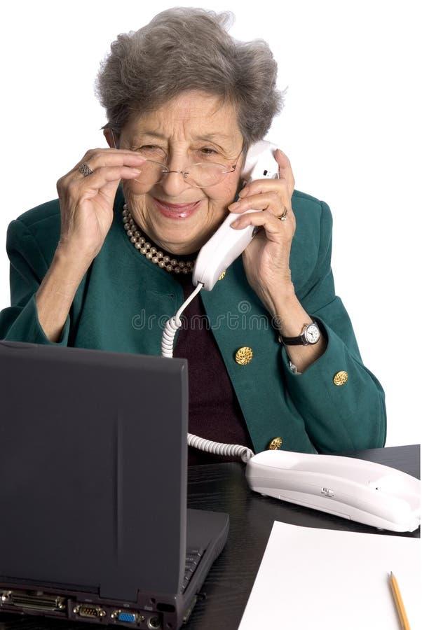 Senior office executive stock photos