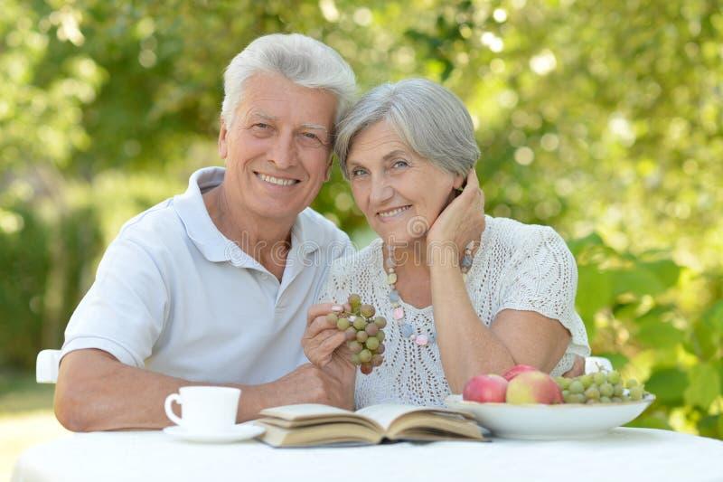 senior parę na zewnątrz zdjęcia royalty free
