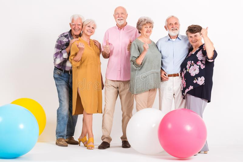 Senior people at the party royalty free stock photos
