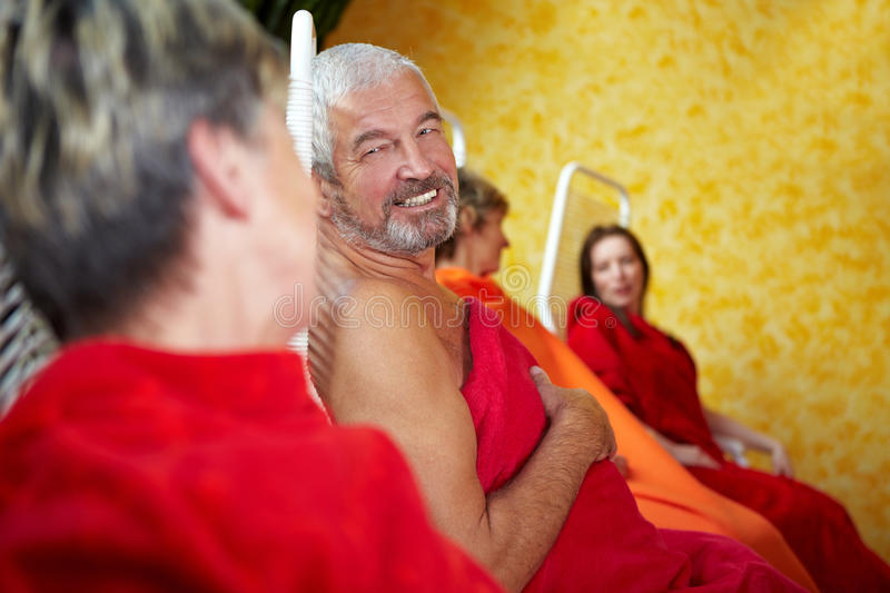 Download Senior People Talking In Spa Royalty Free Stock Photos - Image: 17232568