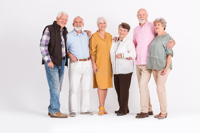 Senior people together royalty free stock photos