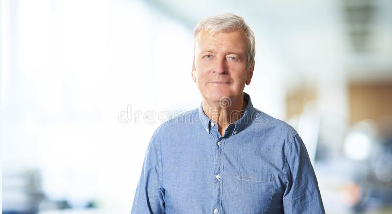 Senior professional man portrait stock photos