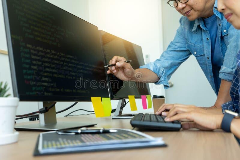 Senior programmer work with Developing programming stock photo