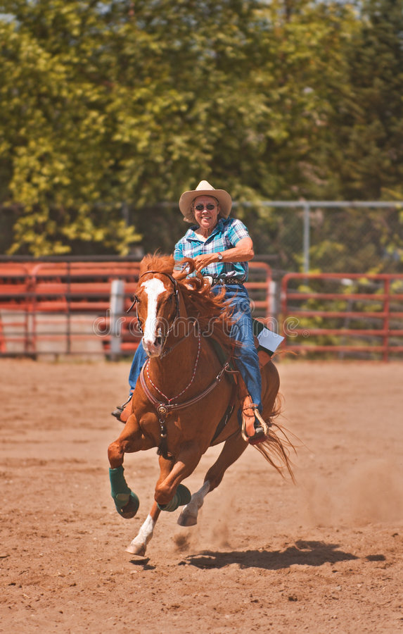 Senior Rider Charge for Home royalty free stock photos