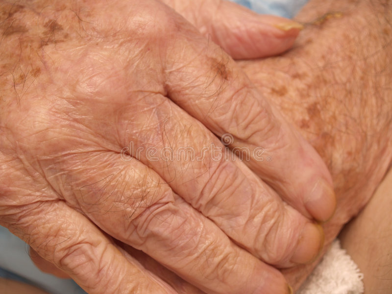 Senior's hands royalty free stock photo