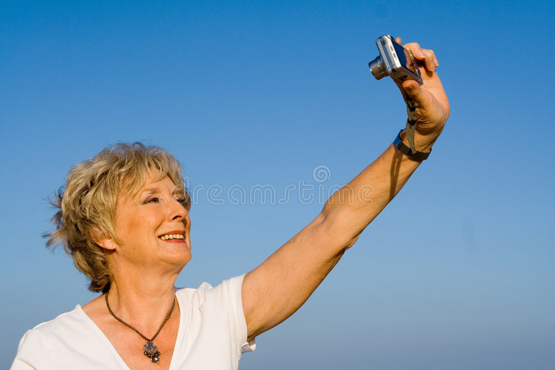 Senior self portrait royalty free stock images