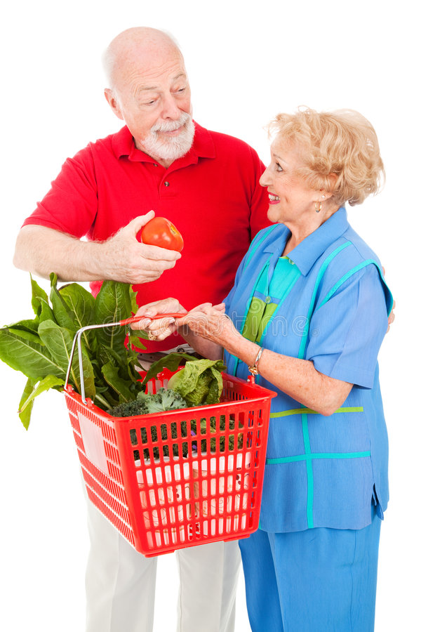 Download Senior Shoppers - Tomato For Her Stock Image - Image: 8305363