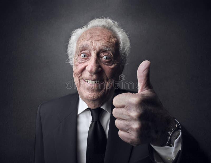 Senior smiling royalty free stock photos