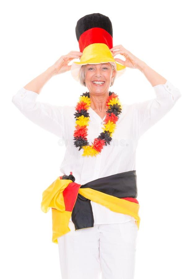Download Senior soccer fan stock image. Image of caucasian, lady - 30599221