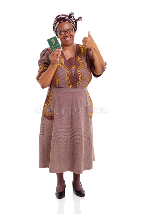 Senior South African Woman ID Book Royalty Free Stock Photos