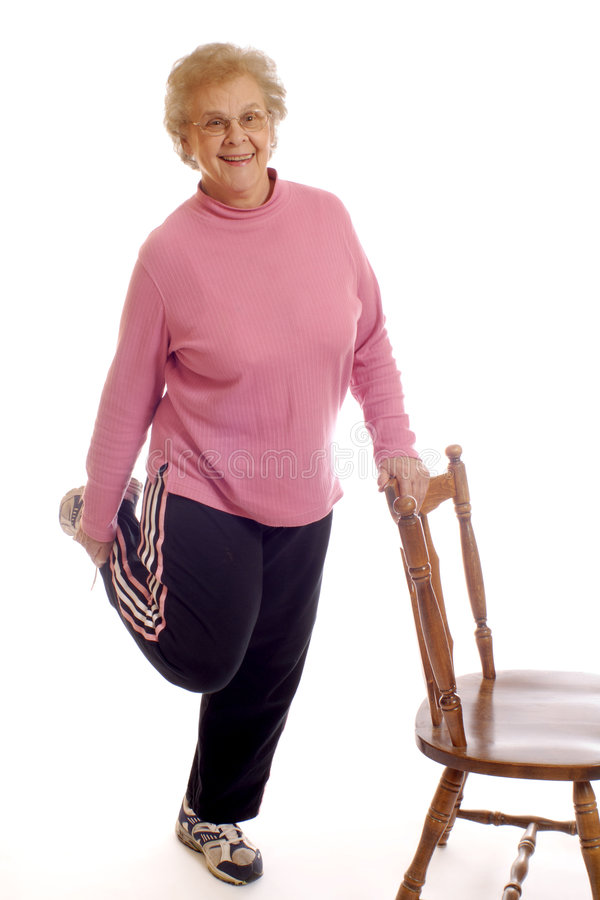 Free Senior Stretches Stock Photography - 1934572