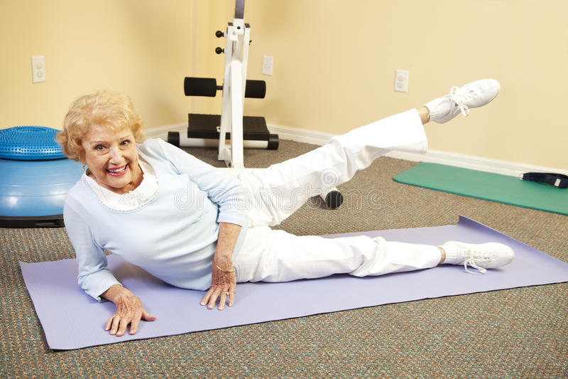 Senior Stretching stock photos