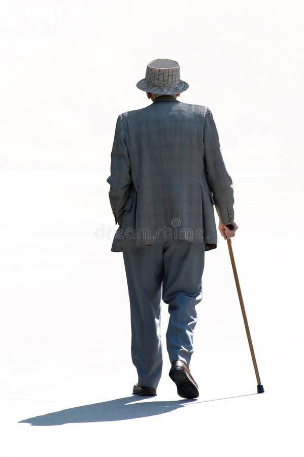Senior Strolling royalty free stock photo