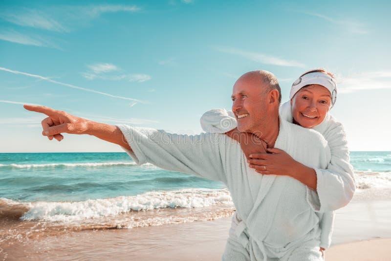 Senior summer spa royalty free stock photos