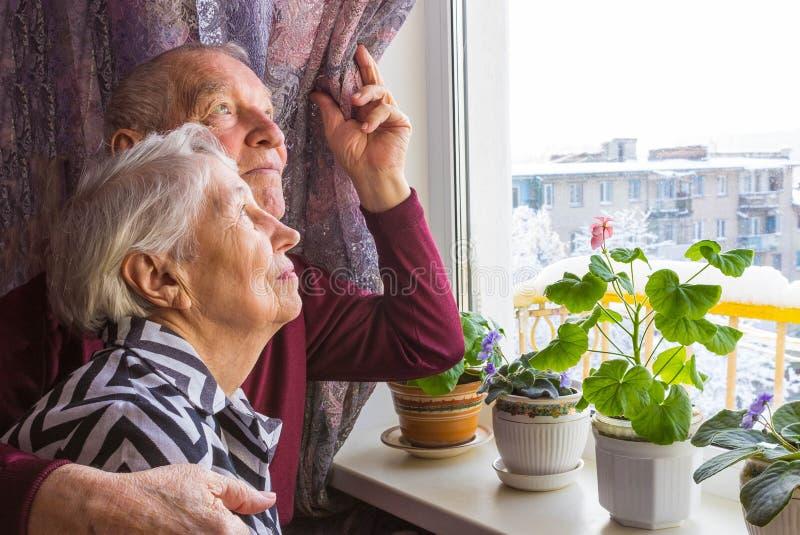 senior szczęśliwa para zdjęcie stock