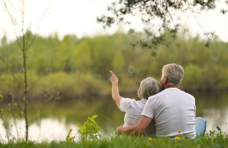 senior szczęśliwa para zdjęcia stock