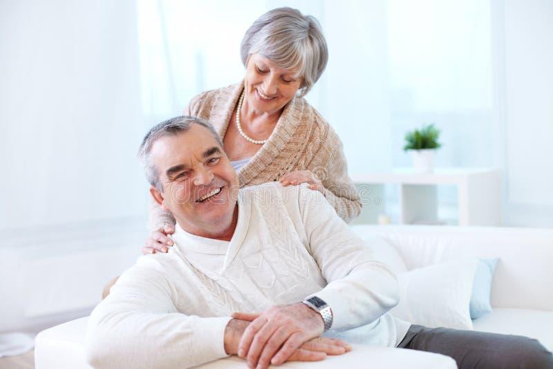 senior szczęśliwa para obrazy stock