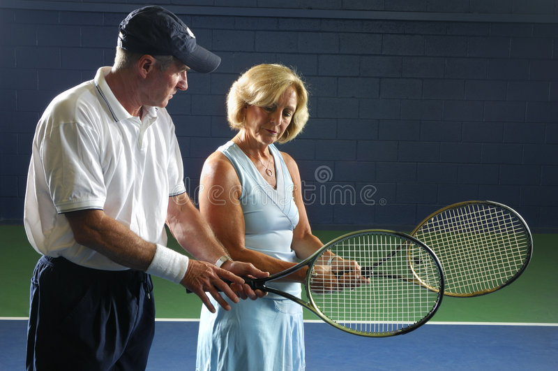 Download Senior Tennis Instruction Royalty Free Stock Images - Image: 3282619