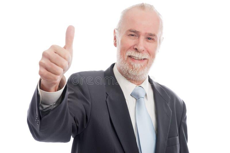 Download Senior with thumb up stock photo. Image of beard, elderly - 23337510