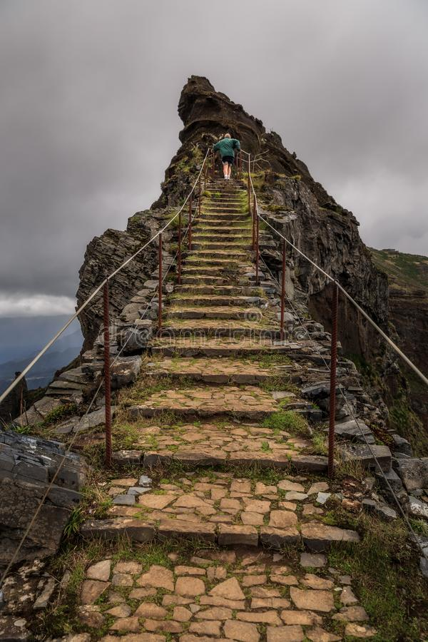 Stairs to the peak royalty free stock image