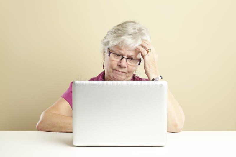 Download Senior Using Laptop Stock Photography - Image: 25892232