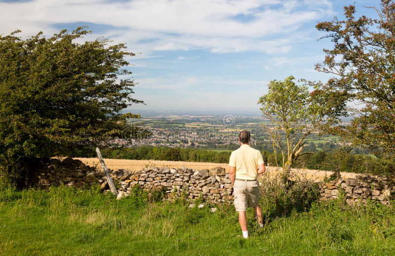 Download Senior Viewing Over Winchcombe From Belas Nap Stock Image - Image: 26937121