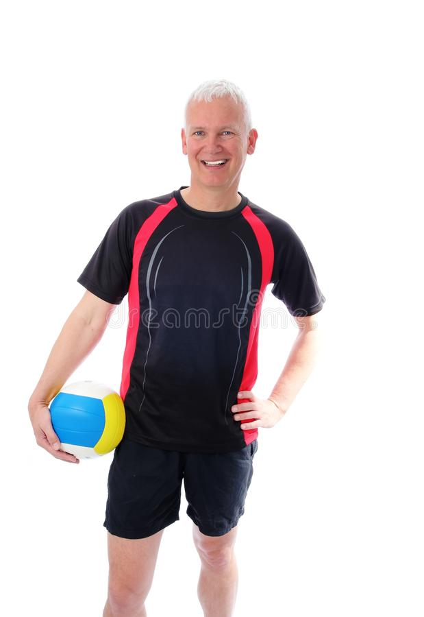 Senior With Volleyball Stock Photos