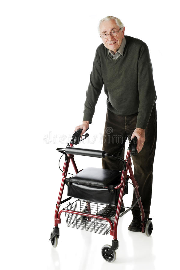 Senior-Walker Stroll Royalty Free Stock Photo