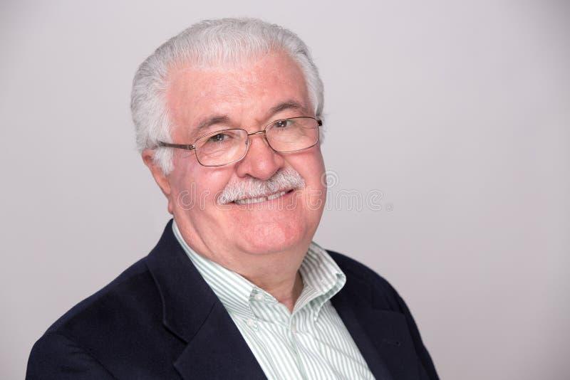 Senior White Hair Man Stock Photography