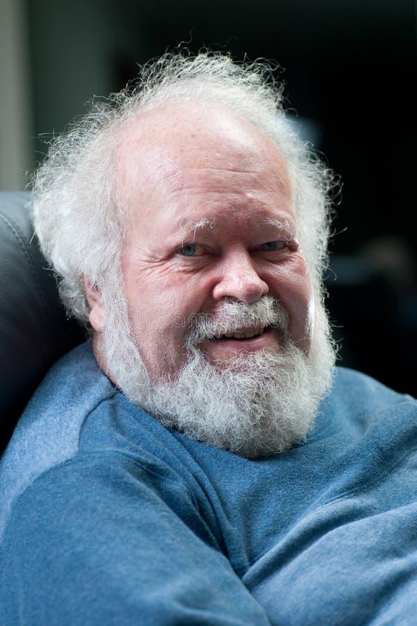 Senior white haired man royalty free stock photo