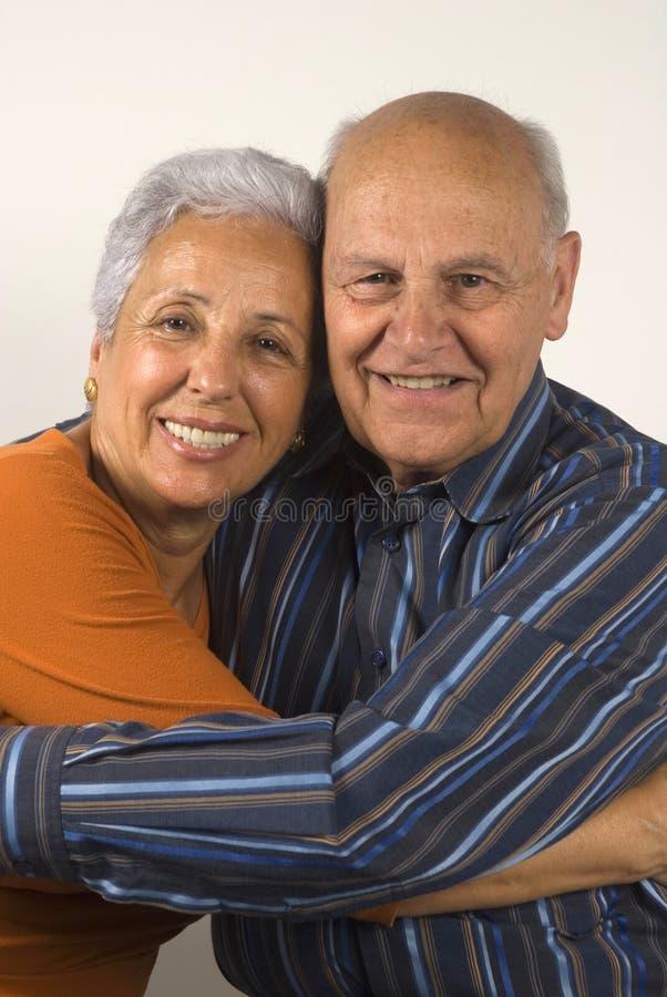 Senior wife and husband stock photo