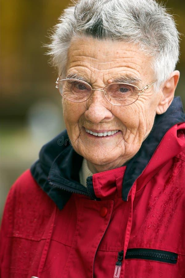 Download Senior woman stock image. Image of eyebrows, nose, cheeks - 1436871