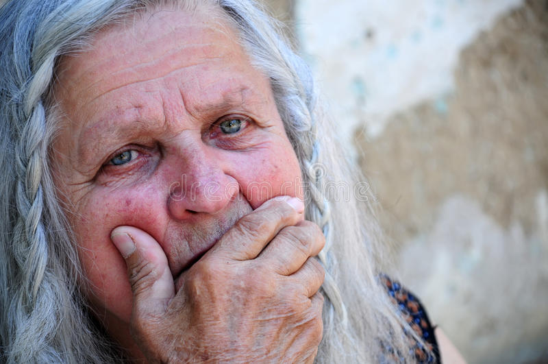Download Senior woman stock image. Image of grief, background - 14408281