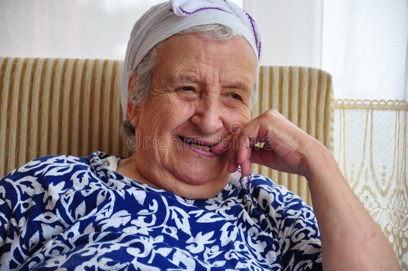 Senior woman. Portrait of a senior woman royalty free stock image