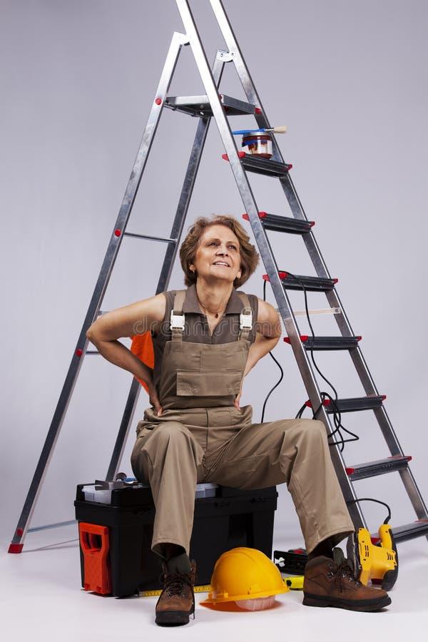 Senior Woman stock image