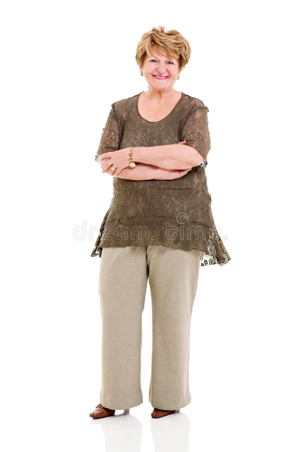 Senior Woman Arms Crossed Royalty Free Stock Photo