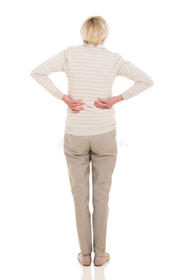 Senior woman backache royalty free stock images