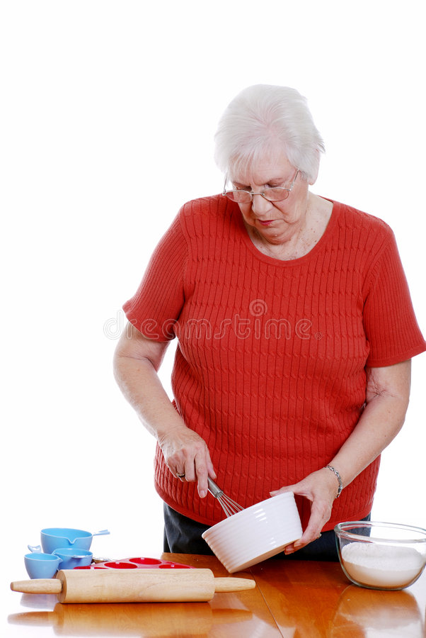 Download Senior woman baking stock image. Image of home, grandmother - 7589109