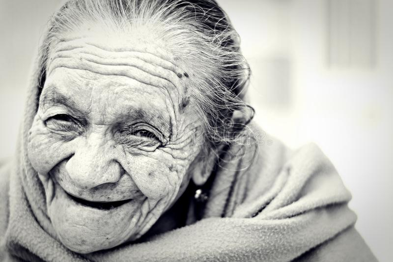 Senior Woman In Black And White Free Public Domain Cc0 Image