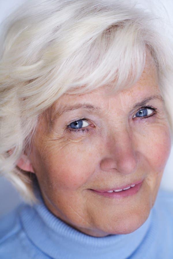 Senior woman close-up 2 stock images