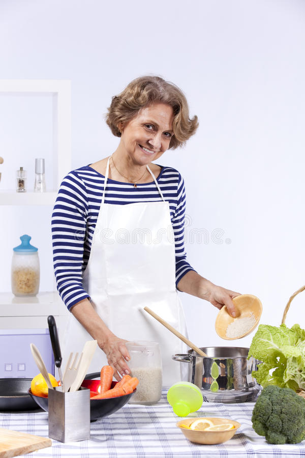 Download Senior Woman Cooking Stock Images - Image: 19689754