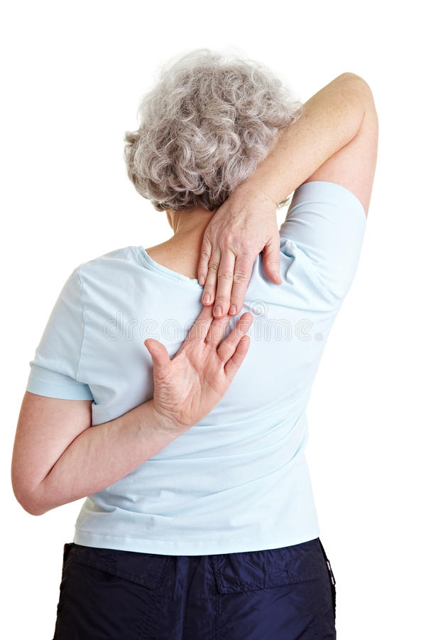 Download Senior Woman Doing Back Exercises Stock Image - Image: 18797301