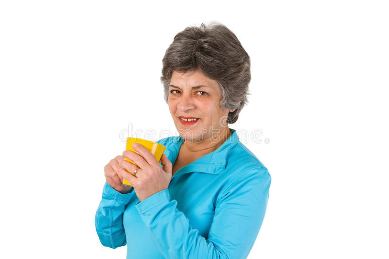 Download Senior Woman Drinking Coffee Or Tea Stock Image - Image: 23483333