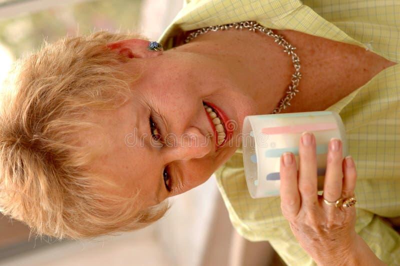 Free Senior Woman Drinking Milk Royalty Free Stock Photo - 1793645